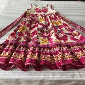 Hand embroidered monsoon dress from India